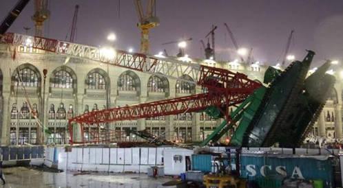 وفاة 87 حاجاً اثر سقوط رافعة في الحرم المكي