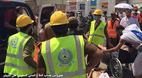 الدفاع المدني السعودي: وفاة 769 حاجاً نتيجة تدافع الحجاج بمشعر منى