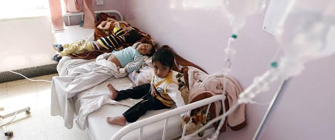 انتشار مقلق للكوليرا في اليمن بمعدل 5,000 حالة جديدة يومياً