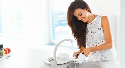 غسل الأواني