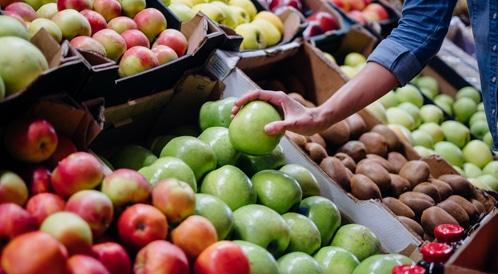 التفاح والطماطم