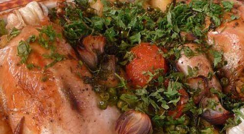 وصفة لتحضير الدجاج المحشي مع الخضراوات  بطريقة صحية