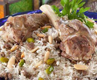 وصفة لتحضير أرز شرقي بموزات الغنم  بطريقة صحية