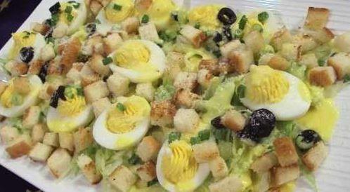 وصفة لتحضير سلطة البيض  بطريقة صحية