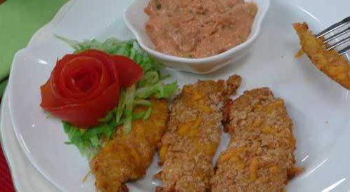 وصفة لتحضير اصابع الدجاج المقرمشة بطريقة صحية