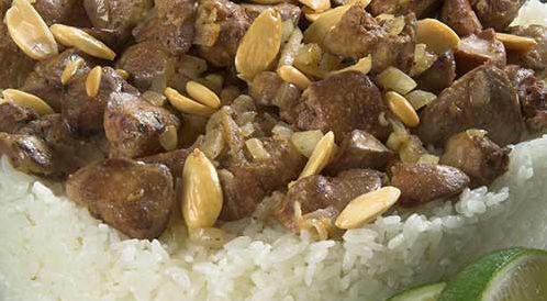 وصفة لتحضير أرز بالكبدة و المكسرات بطريقة صحية