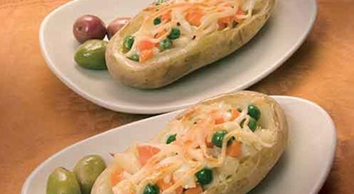 وصفة لتحضير بطاطس مشوية و محشية بطريقة صحية