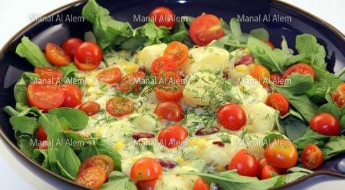 وصفة لتحضير سلطة البطاطس بطريقة صحية