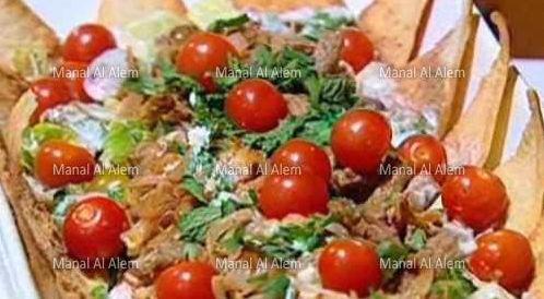 وصفة لتحضير سلطة شاورما اللحم بطريقة صحية