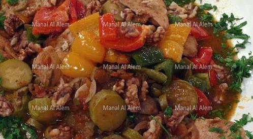 وصفة لتحضير دجاج بالخضروات بطريقة صحية