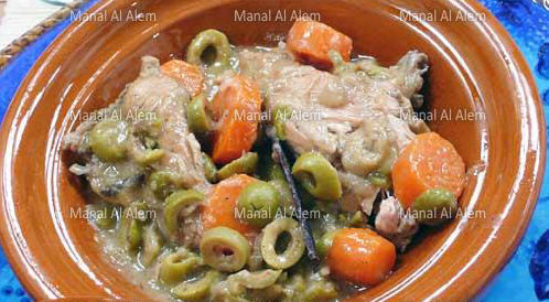 وصفة لتحضير طاجين الدجاج بالزيتون الأخضر بطريقة صحية
