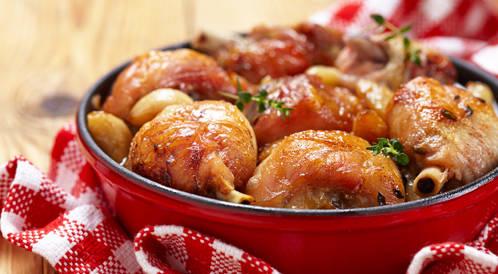وصفة لتحضير صينية الدجاج بالخضروات بطريقة صحية