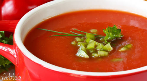 وصفة لتحضير شوربة طماطم مدراس الحارة بطريقة صحية