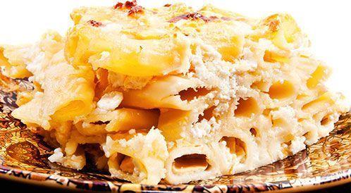 فطائر المعكرونة والجبنة المخبوزة