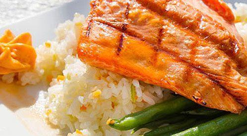 وصفة لتحضير سمك مع أرز السمك بطريقة صحية