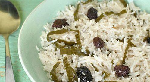 ارز بخاري بالزبيب