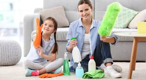 نصائح للاهل لتنظيف وتنظيم المنزل