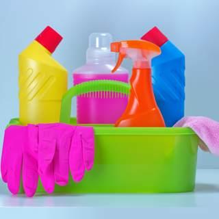 حافظ على لوازم التنظيف