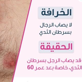 الخرافة: لا يصاب الرجال بسرطان الثدي