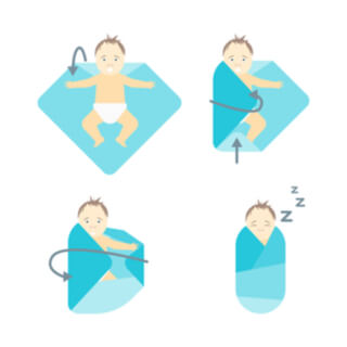 أمور هامة قبل لف الطفل