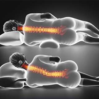 علاج آلام الرقبة الناتج عن وضعيات نوم مختلفة.