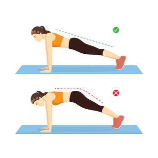 تمرين اللوح أو البلانك (Plank)