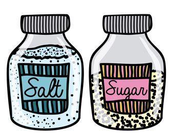 ما هو الاستهلاك السليم لكل من الملح والسكر؟
