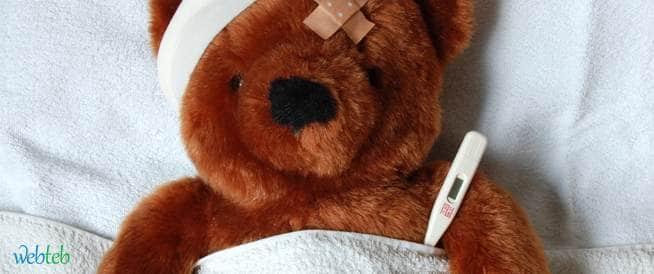العلاج الأولي لارتفاع الحرارة عند الطفل