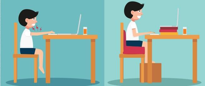 طريقة الجلوس الصحيحة