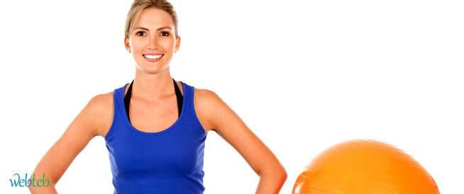 تمارين اللياقة البدنية بواسطة الكرة