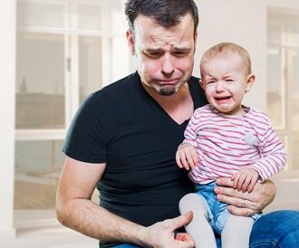 اكتئاب ما بعد الولادة يصيب الرجال كذلك!