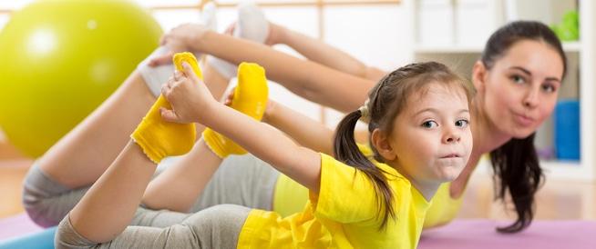 تمارين البطن: قومي بها مع أطفالك