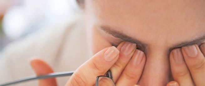أعراض مبكرة للماء الأبيض في العين
