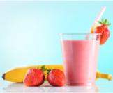 عصير الفراولة والموز
