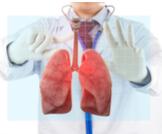 عملية سحب الهواء من الرئة