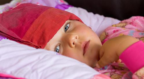 أماكن وضع الكمادات للطفل