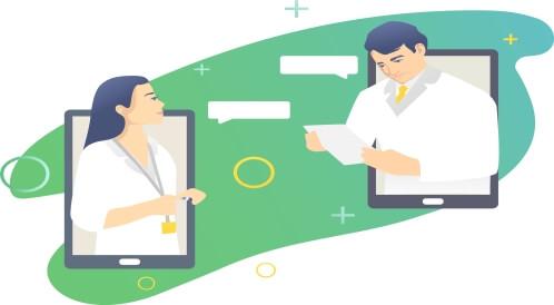 أخصائيو التغذية والعيادات الإلكترونية