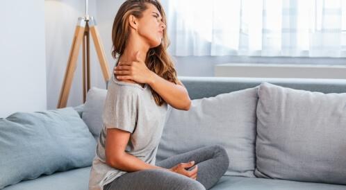 علاج ألم العضلات في المنزل