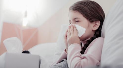 أعراض البرد عند الأطفال
