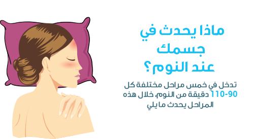 ماذا يحدث في جسمك عند النوم؟