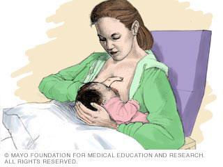 الإرضاع: حمل الطفل تحت إبطك