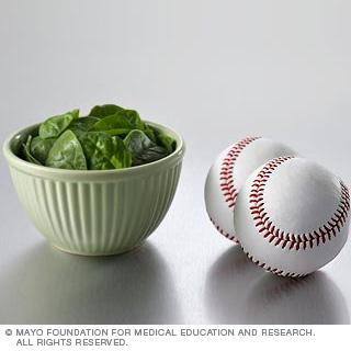 الخضروات: السبانخ النيء وغيره