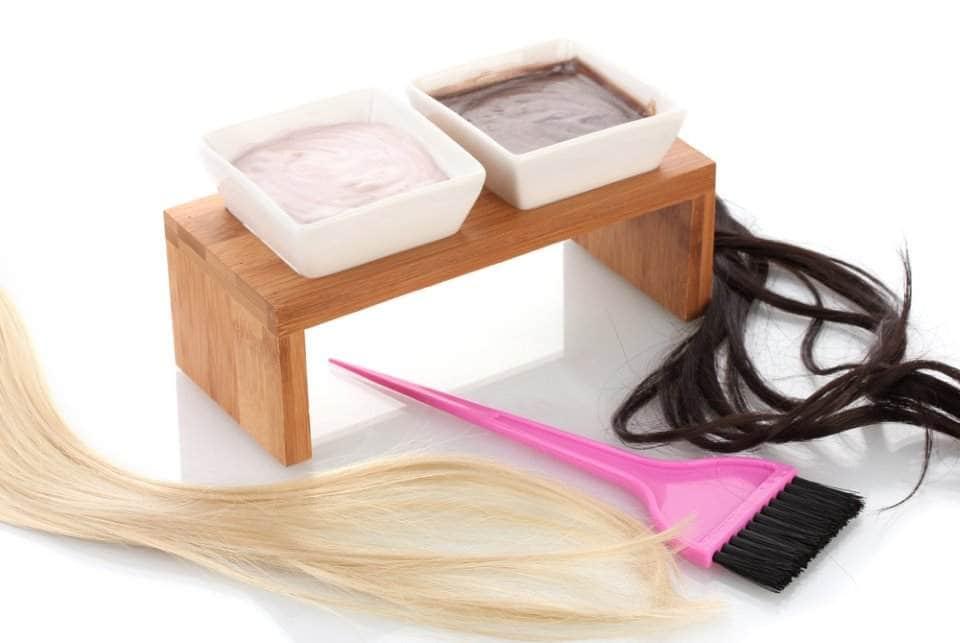 صورة لأدوات صبغ شعر