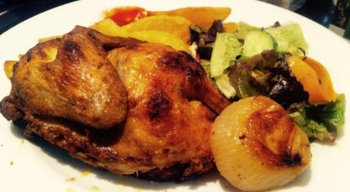 دجاج بالأكياس مع خضار