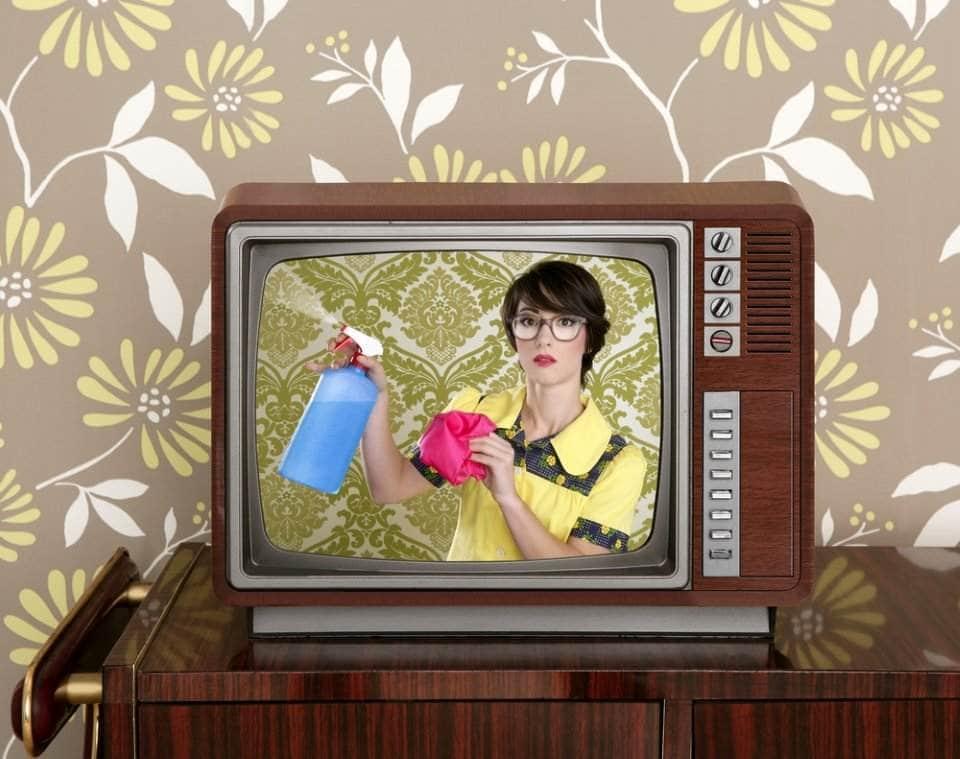 فتاة في إعلان تلفزيوني