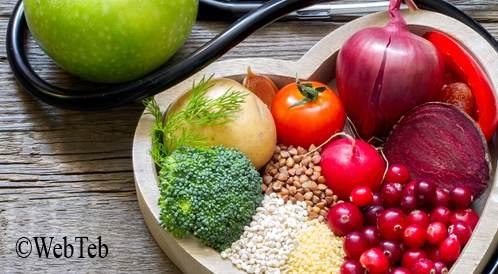 صورة لمجموعة من الأغذية الصحية للقلب