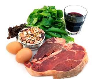 صورة لأطعمة غنية بمصادر الحديد