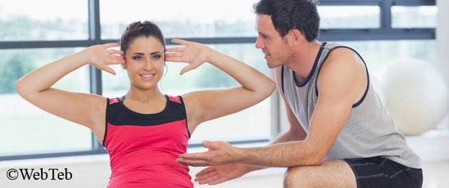 صورة امرأة تتدرب على التمارين