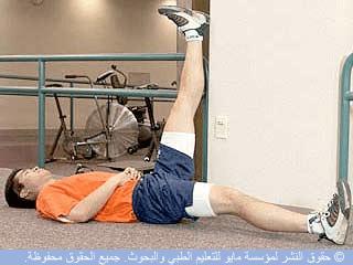 إطالة العضلات المأبضية