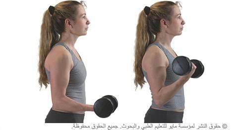 ثني العضلة ثنائية الرؤوس